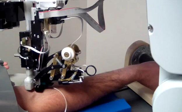 רובוט, בדיקת דם (צילום: חדשות 2)