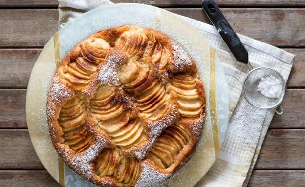 עוגת תפוחים מרהיבה של אביבה פיבקו (צילום: בני גם זו לטובה, אוכל טוב)