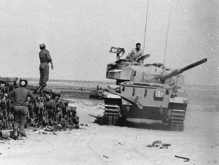 טנק ישראלי בסיני במלחמת יום כיפור