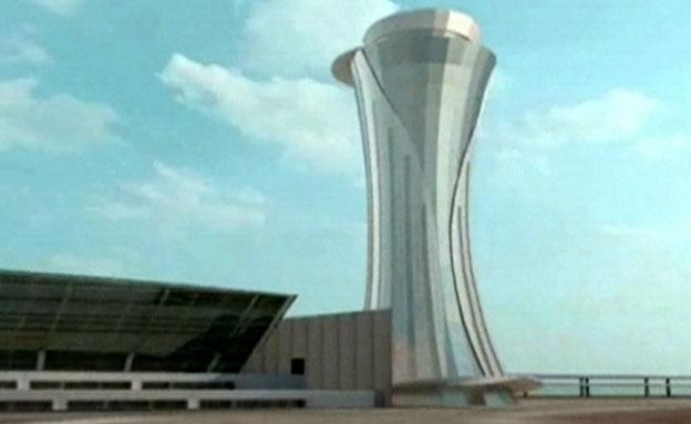 """הצצה למגדל הפיקוח החדש בנתב""""ג (צילום: חדשות 2)"""