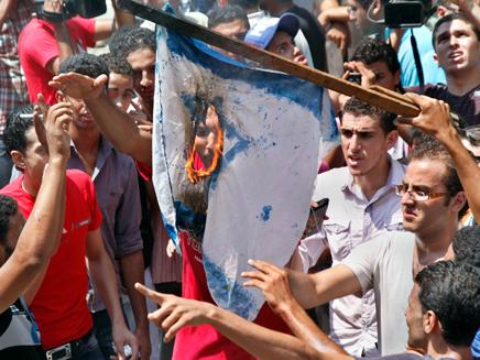 מפגן שנאה באירן, ארכיון (צילום: AP)
