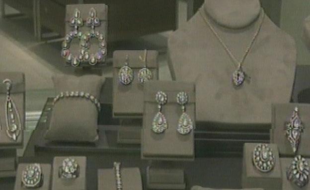 חלק מהתכשיטים שנגנבו (צילום: חדשות 2)