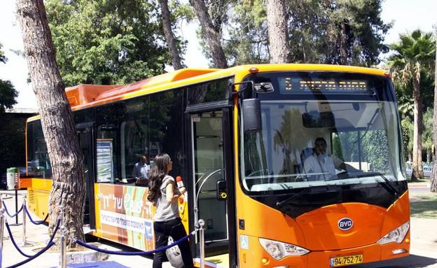 אוטובוס חשמלי (צילום: נעם וינד)