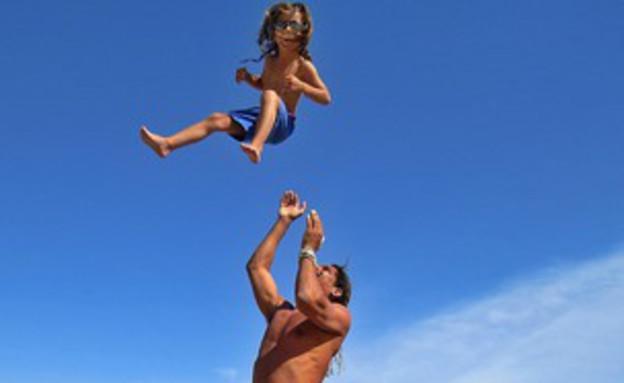 חופשות-ילד עף באוויר 9.8.13 (צילום: האח הגדול)