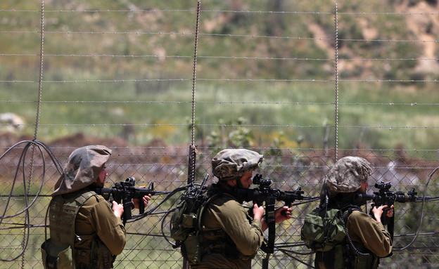 חיילים בגבול סוריה (צילום: Lior Mizrahi, GettyImages IL)