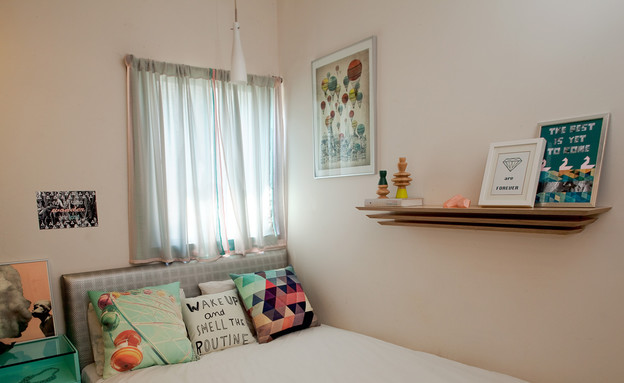 דירות סטודנטים, חדר שינה מיטה מיכל חכמון, צילום מי (צילום: מיכל חכמון)