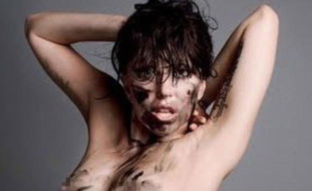 ליידי גאגא בעירום למגזין V (צילום: מתוך V MAGAZINE)