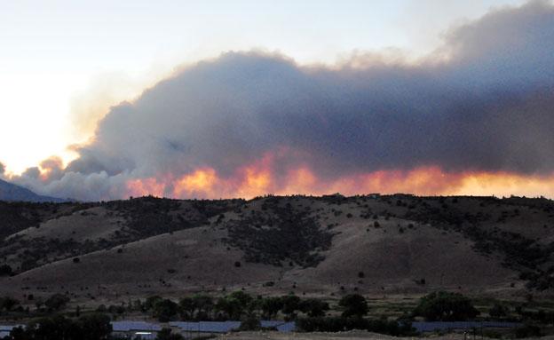 שריפה אריזונה (צילום: חדשות 2)