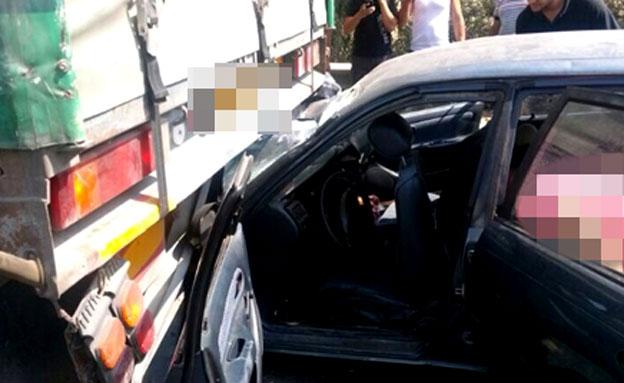 זירת התאונה בצפון (צילום: פוראת נאסר, חדשות 2)