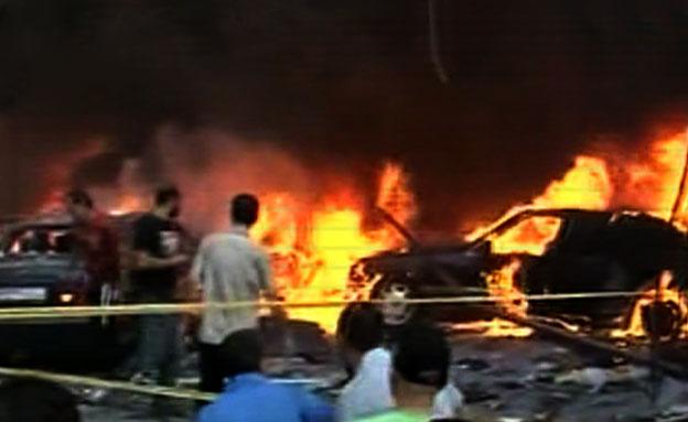 פיצוץ במעוז חיזבאללה בדאחייה, לבנון (צילום: חדשות 2)