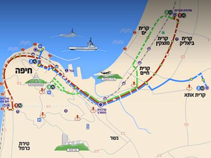 מפת קווי המטרונית (צילום: משרד התחבורה)