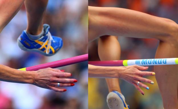 אמה גרין אתלטית שבדית לפני ואחרי (צילום: Cameron Spencer, GettyImages IL)