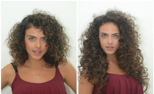 רותם לפני ואחרי- מתולתלות (צילום: רן כליף)