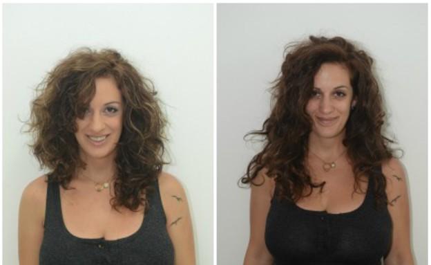 תמר לפני ואחרי- מתולתלות (צילום: רן כליף)