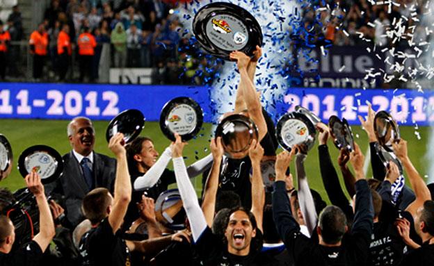 עירוני קריית שמונה זוכה באליפות (צילום: רויטרס)