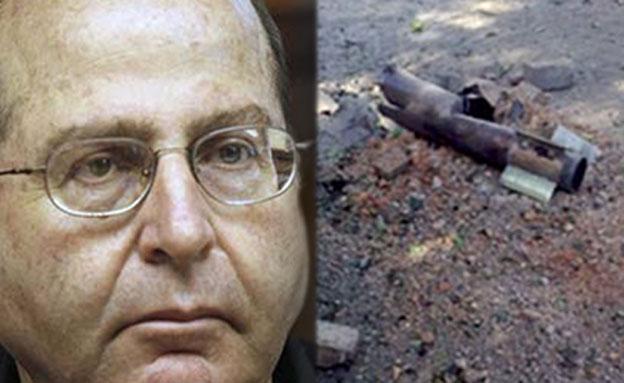 שר הביטחון יעלון על רקע הרקטה שהתפוצצה אתמול (צילום: חדשות 2)