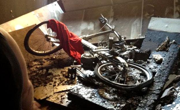 האופניים התלקחו בעת ההטענה (צילום: חדשות 2)