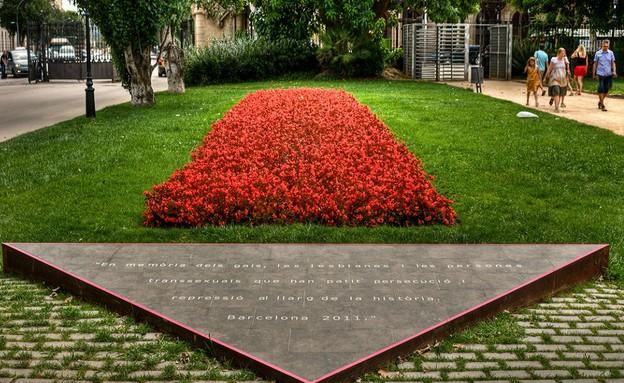 אנדרטת המשולש הוורוד בברצלונה (צילום: אתר ממשלת קטלוניה)