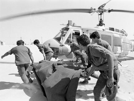 מלחמת יום כיפור פינוי פצועים