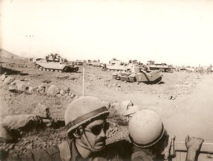 מלחמת יום כיפור טנקים רמת הגולן (צילום: נחמן מרגלית)