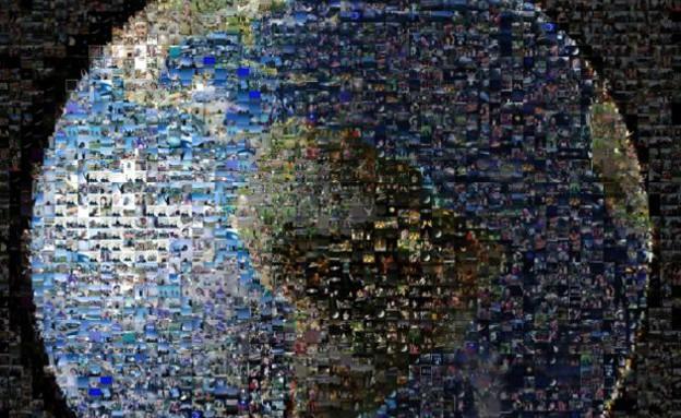 כדור הארץ מקולאז' של אלפי תמונות (צילום: NASA)