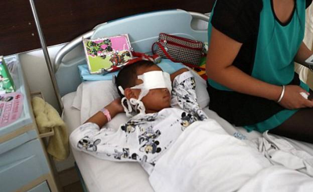 שודדי איברים עקרו את עיניו של ילד בן שש (צילום: dailymail.co.uk)