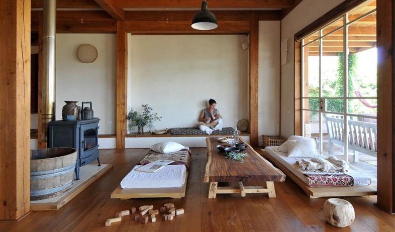 עבודות עץ מיכאל רינג ringwood אדריכלות רינה הבית הרגשי, גוטי (צילום: שי אדם)
