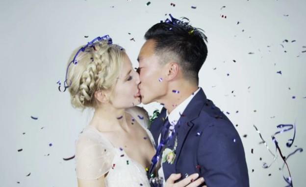 זוג מתחתן - אלי וקוונג (צילום: vimeo, צילום מסך)