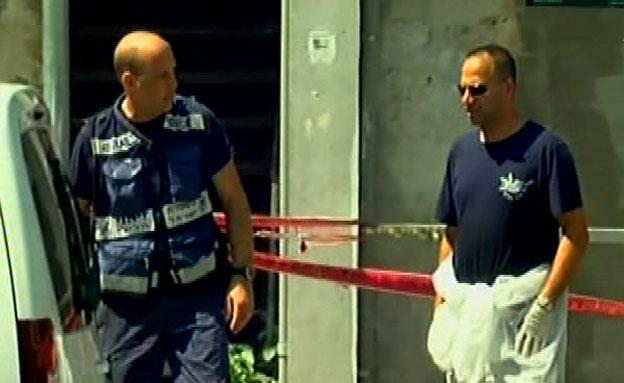 זירת הרצח בחיפה (צילום: חדשות 2)