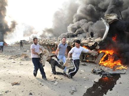 פיצוץ בדמשק. ארכיון (צילום: סוכנות הידיעות הסורית)