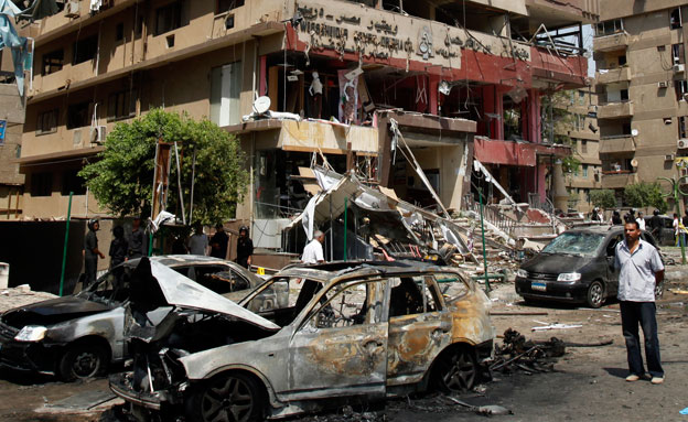 ניסיון חיסול שר החוץ המצרי איברהים מוחמד (צילום: רויטרס)
