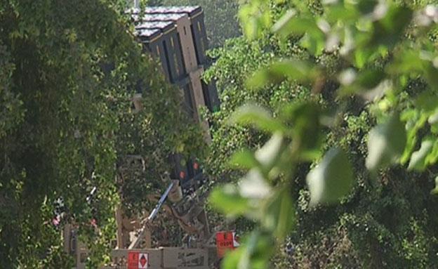סוללת כיפת ברזל בגוש דן (צילום: חדשות 2)