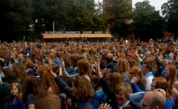 פסטיבל הג'ינג'ים השנתי (צילום: יוטיוב)