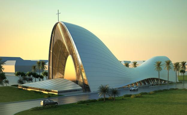 מבני דת כנסייה DOS ARC, צד (צילום: www.dosarchitects.com)