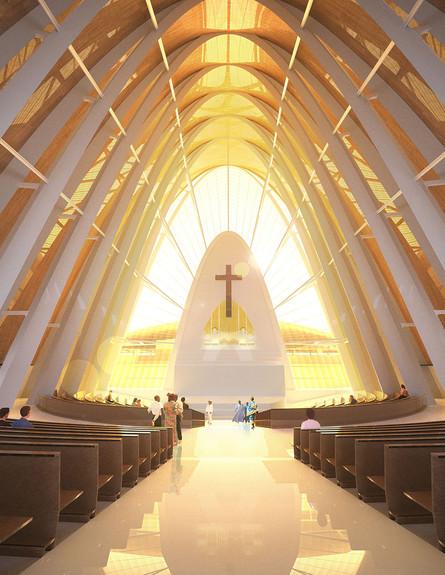 מבני דת כנסייה DOS ARC, חלל (צילום: www.dosarchitects.com)