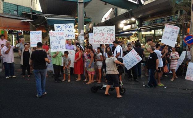 הפגנה, דרום תל אביב, מסתננים (צילום: חדשות 2)