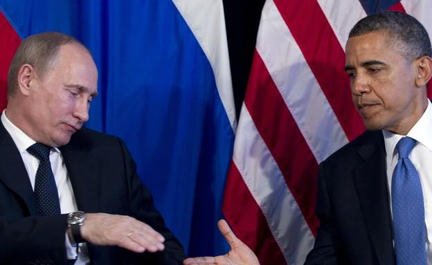 ברק אובמה, ולדימיר פוטין (צילום: ap)