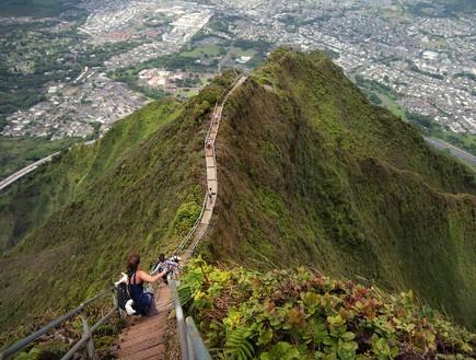 מדרגות האיקי, הוואי, מדרגות בעולם, קרדיט unrealhawaii.com
