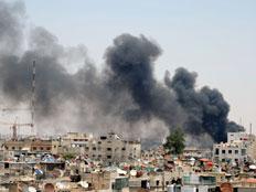 הסוף מתקרב? לחימה בדמשק, החודש (צילום: רויטרס)