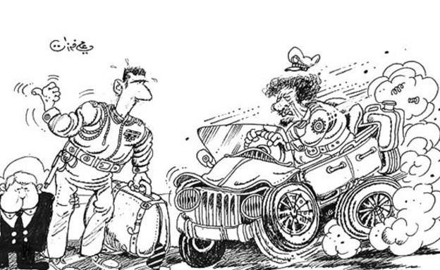 קריקטורה הלועגת לאסד (מתוך: CNN)
