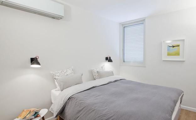 בית טופה ביפו, חדר שינה מיטה (צילום: הגר דופלט)