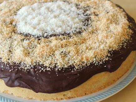 עוגת קוקוס בציפוי פאדג' שוקולד (צילום: מור כהן, אוכל טוב)