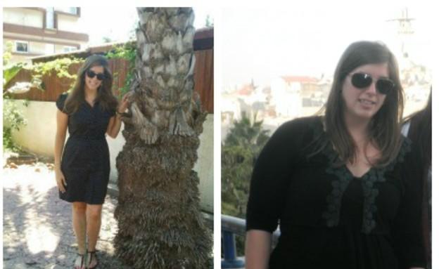 מירית והבי לפני ואחרי (צילום: תומר ושחר צלמים, צילום ביתי)