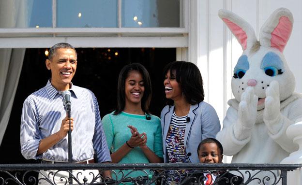 חדל לעשן בהשפעת המשפחה הנשיאותית (צילום: AP)