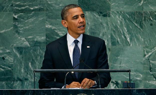 """שידור חי: נאום אובמה באו""""ם (צילום: רויטרס)"""