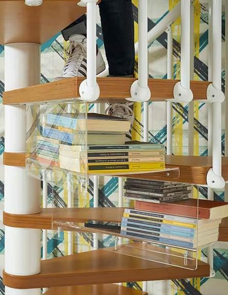 אחסון, מדרגות לולייניות גובה (צילום: it.fontanotshop.com)