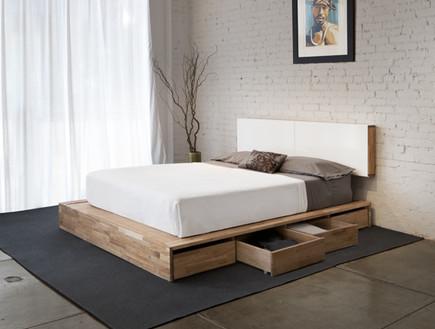 אחסון, מגירות מיטה עץ