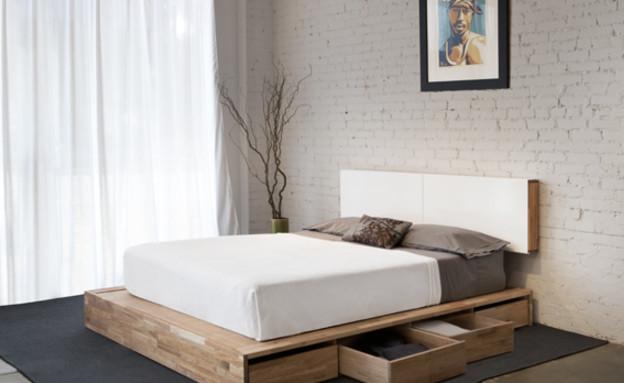 אחסון, מגירות מיטה עץ (צילום: www.mid2mod.com)