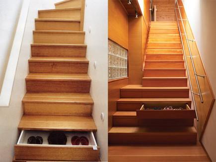 אחסון, מדרגות מגירות גובה