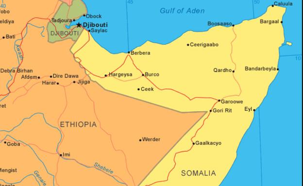 מפת סומליה (צילום: צילום מסך)